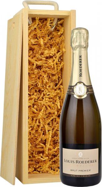 Louis Roederer Brut Premier NV Champagne 75cl in Wood Box (SL)