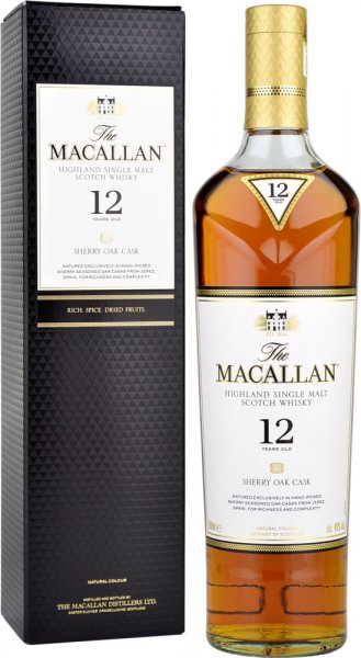 Macallan Sherry Oak 12 Year Old Single Malt Scotch Whisky 70cl