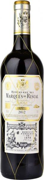 Marques De Riscal Rioja Reserva Red 2012 75cl