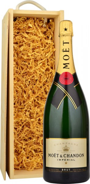 Moet & Chandon Brut NV Champagne Magnum (1.5 ltr) in Wood Box