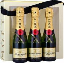 Moet & Chandon Brut NV Champagne Mini 3 Bottle Gift Pack (3x20cl)