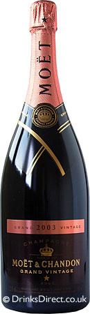 Moet & Chandon Grand Vintage Rose 2002 Champagne Magnum (1.5 litre)