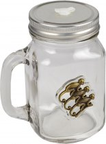 Monkey Shoulder Glass Tankard with Lid