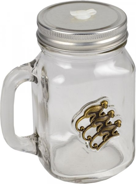 Monkey Shoulder Glass Tankard with Lid