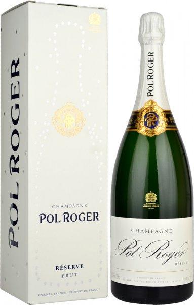 Pol Roger Brut Reserve NV Champagne Magnum (1.5 litre) in Branded Box