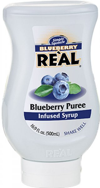 Real Blueberry Puree Syrup 500ml Squeezy Bottle