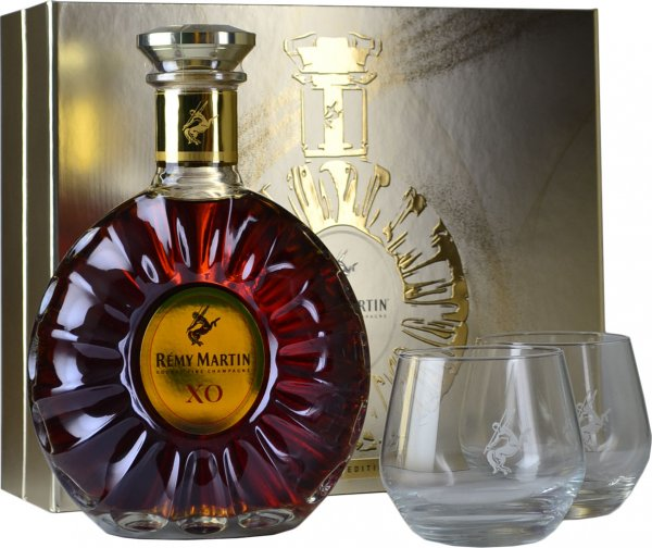 Remy Martin XO Cognac 70cl with 2 Glasses Gift Pack