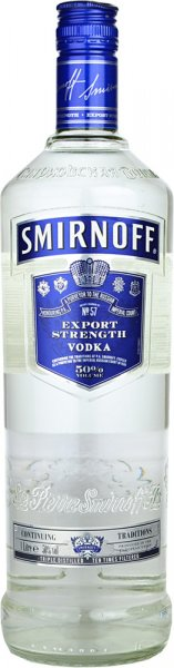 Smirnoff Blue Export Strength Vodka 1 litre