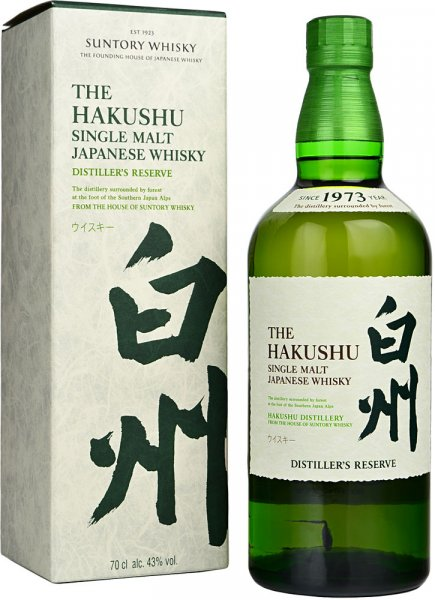 Suntory Hakushu Distillers Reserve Single Malt Whisky 70cl