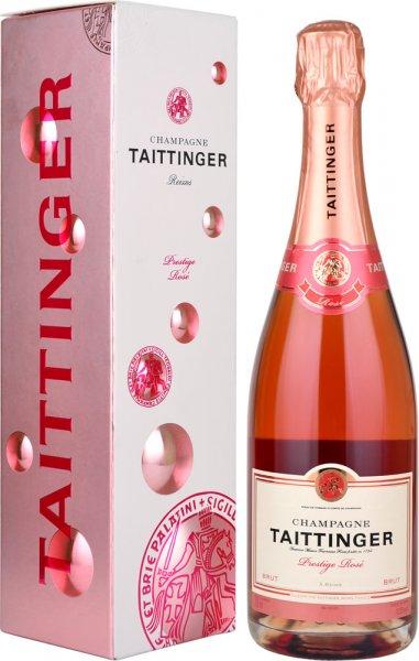 Taittinger Brut Prestige Rose NV Champagne 75cl in Taittinger Box
