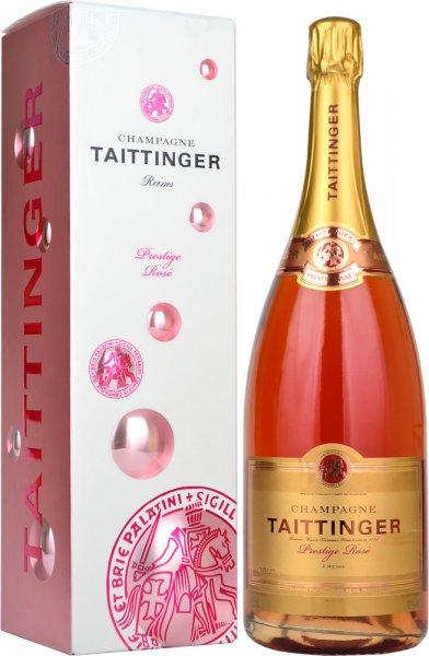 Taittinger Brut Prestige Rose NV Magnum (1.5 litre) in Taittinger Box
