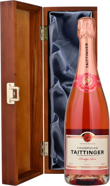 Taittinger Rose NV Champagne 75cl in Wood Box (LH)