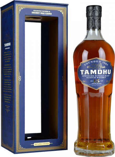 Tamdhu 15 Year Old Sherry Oak Cask Single Malt Scotch Whisky 70cl