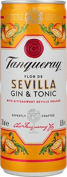 Tanqueray Flor de Sevilla Orange Gin & Tonic Can 250ml