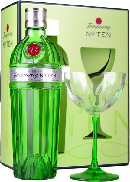 Tanqueray No. Ten Gin 70cl Coupette Glass Gift Pack