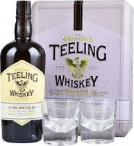 Teeling Small Batch Irish Whiskey 70cl with 2 Glasses in Gift Tin