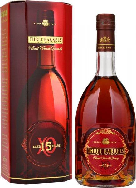 Three Barrels XO 15 Year Old Brandy 70cl