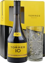 Torres 10 Reserva Imperial Brandy 70cl with Glass Gift Pack