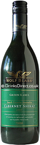 Wolf Blass Green Label Cabernet Shiraz 75cl